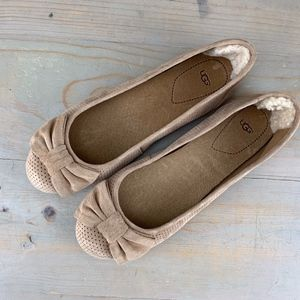 ugg rohen perf nude suede flats